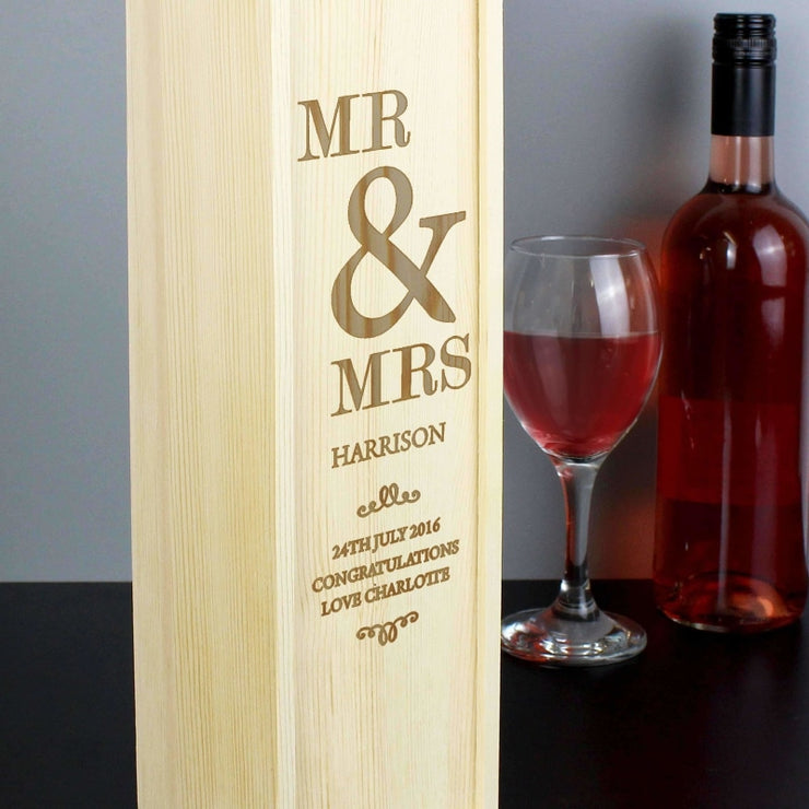 Personalised Couples Bottle Presentation Box-Gift Box-Give Personalised Gifts