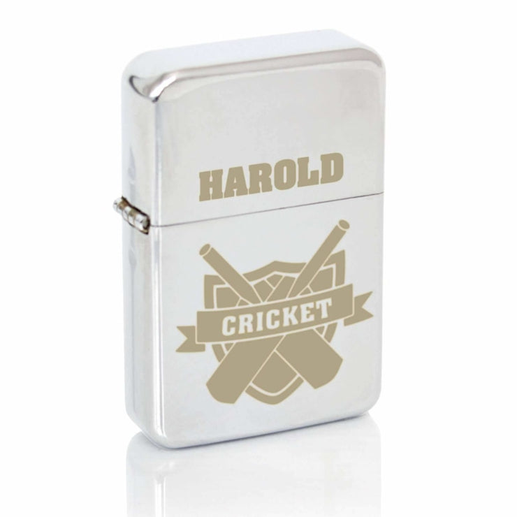 Personalised Cricket Lighter-Lighter-Give Personalised Gifts