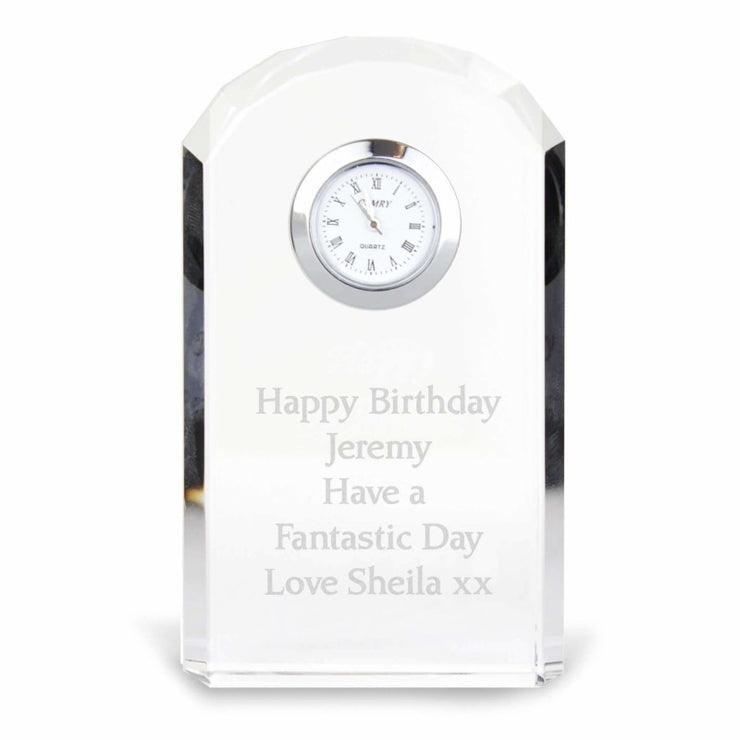 Personalised Crystal Clock-Clock-Give Personalised Gifts