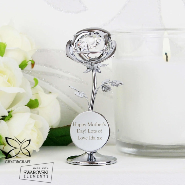 Personalised Crystocraft Rose Ornament-Ornaments-Give Personalised Gifts