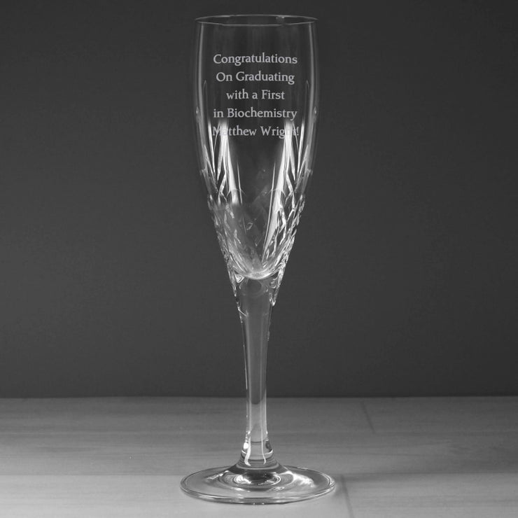 Personalised Cut Crystal Champagne Flute-Flute-Give Personalised Gifts