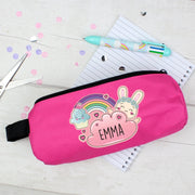 Personalised Cute Bunny Pink Pencil Case-Pen & Pencil Set-Give Personalised Gifts