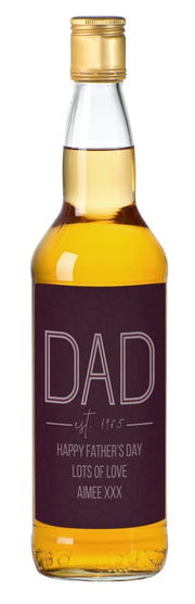 Personalised Dad Established Single Malt Whisky-Whisky-Give Personalised Gifts