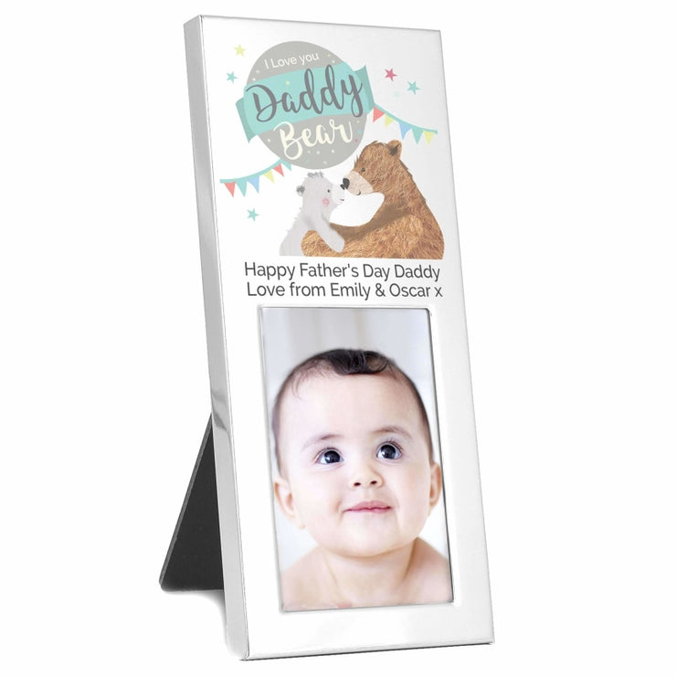 Personalised Daddy Bear 2x3 Photo Frame-Photo Frame-Give Personalised Gifts