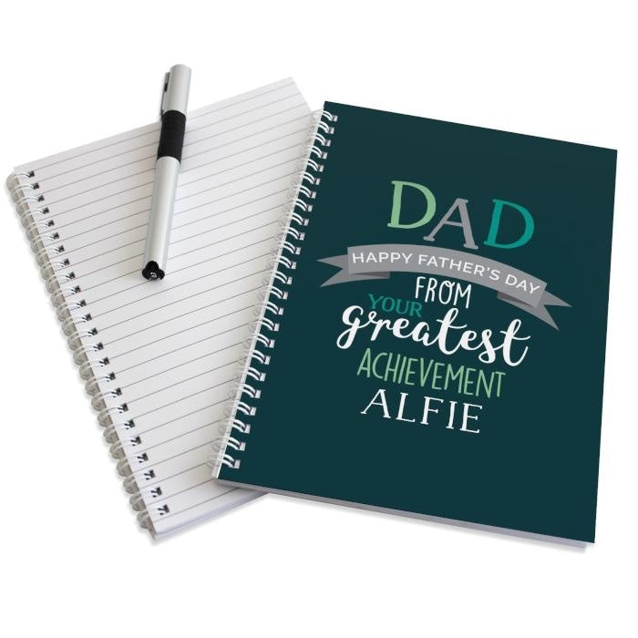 Personalised Dad's Greatest Achievement A5 Notebook-Notebook-Give Personalised Gifts