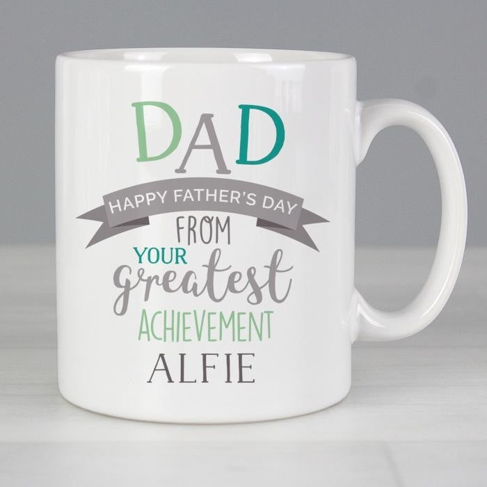 Personalised 'Dad's Greatest Achievement' Mug-Mugs-Give Personalised Gifts
