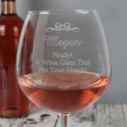 Personalised Decorative Bottle of Wine Glass-Glassware-Give Personalised Gifts