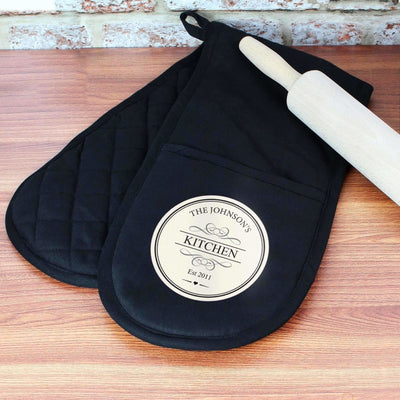 Personalised Decorative Oven Gloves-Oven Gloves-Give Personalised Gifts