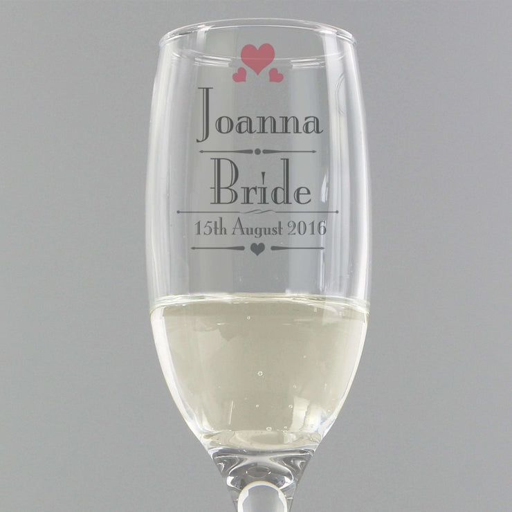 Personalised Decorative Wedding Female Flute-Flute-Give Personalised Gifts