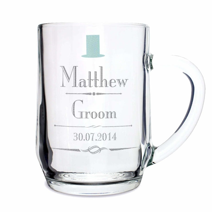 Personalised Decorative Wedding Male Tankard-Tankard-Give Personalised Gifts