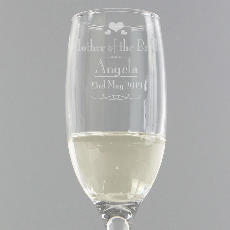 Personalised Decorative Wedding Mother of the Bride Glass Flute-Flute-Give Personalised Gifts