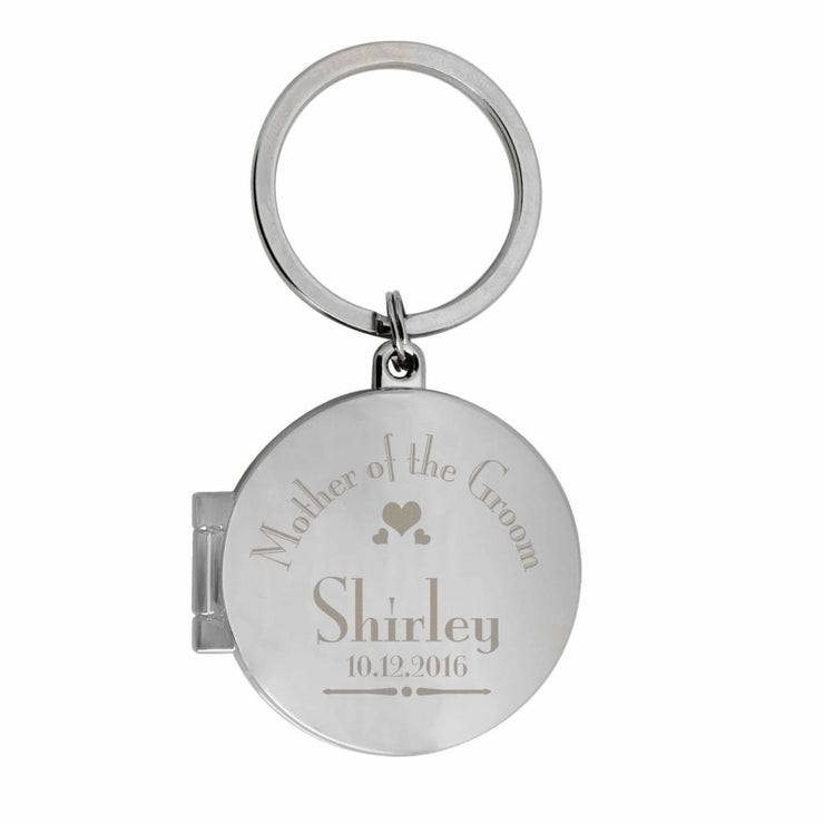 Personalised Decorative Wedding Mother of the Groom Round Photo Keyring-Keyring-Give Personalised Gifts
