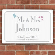 Personalised Decorative Wedding Mr & Mrs Plaque-Canvases & Plaques-Give Personalised Gifts