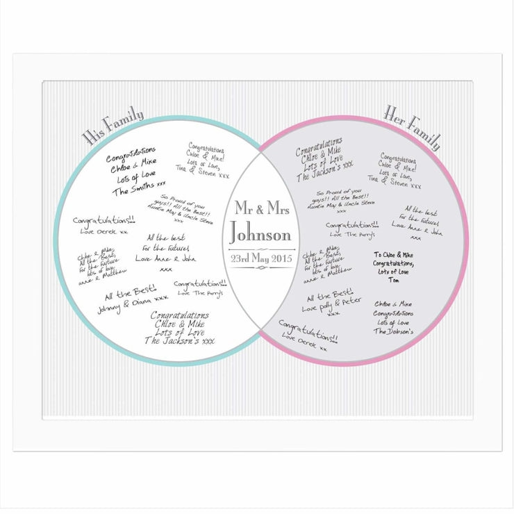 Personalised Decorative Wedding Mr & Mrs White Signing Frame-Framed Print-Give Personalised Gifts