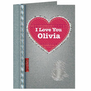 Personalised Denim Valentine Card-Personalised Cards-Give Personalised Gifts