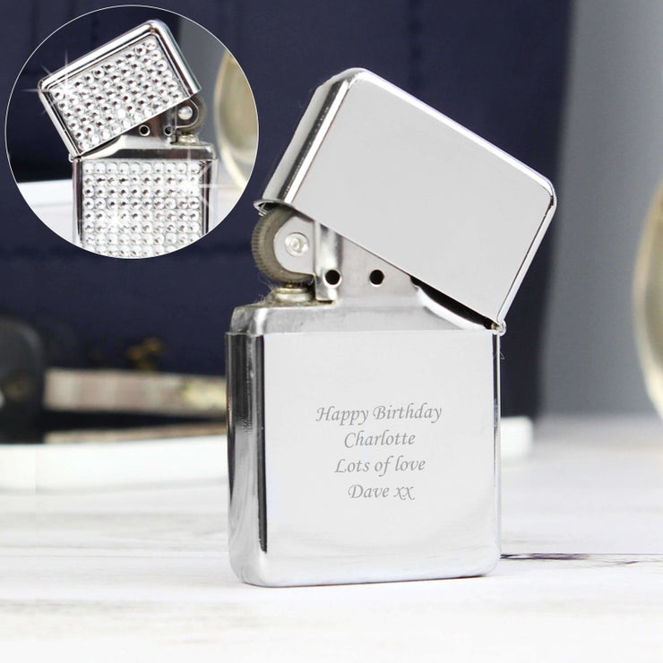 Personalised Diamante Lighter-Lighter-Give Personalised Gifts