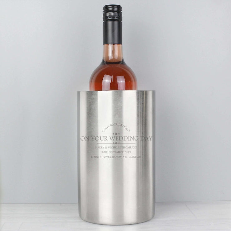 Personalised Diamond Wine Cooler-Kitchen Accessories-Give Personalised Gifts