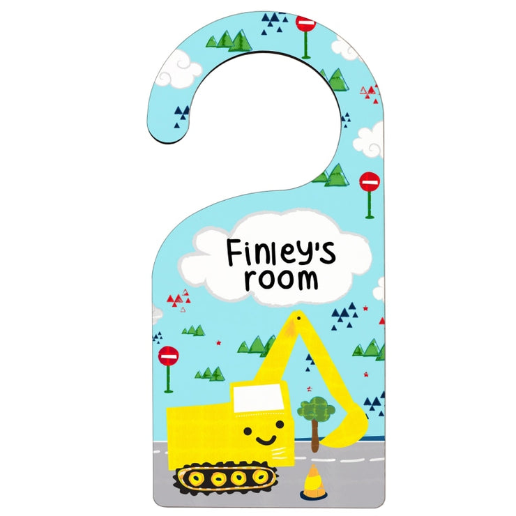 Personalised Digger Door Hanger-Door Hanger-Give Personalised Gifts