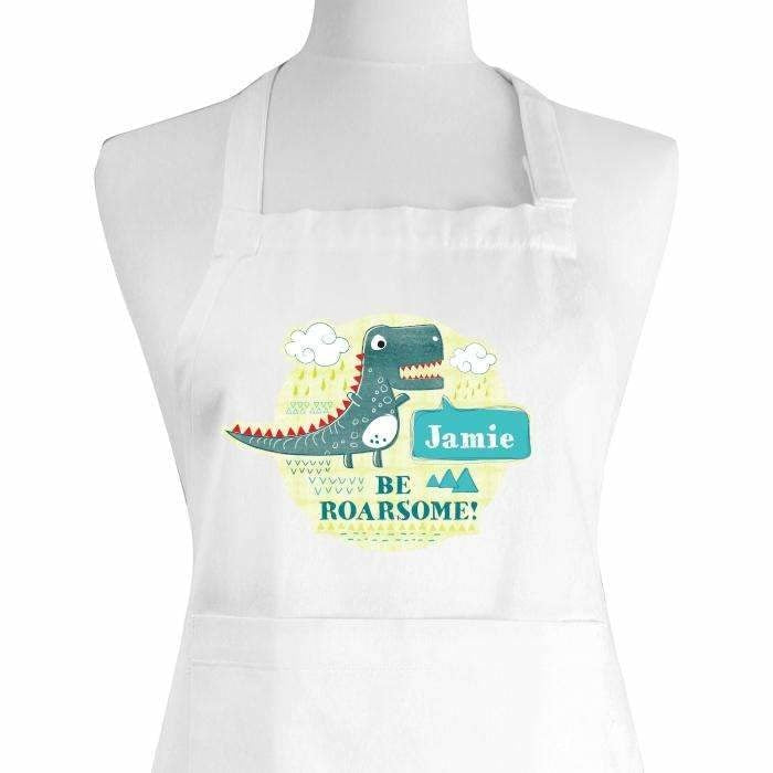 Personalised Dinosaur Children's Apron-Apron-Give Personalised Gifts