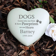 Personalised Dog Pawprints Heart Memorial-Paw Prints-Give Personalised Gifts