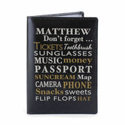 Personalised Dont Forget... Black Passport Holder-Passport Holders-Give Personalised Gifts