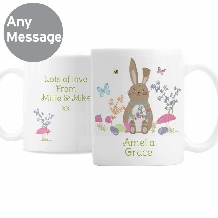 Personalised Easter Meadow Bunny Mug-Mugs-Give Personalised Gifts