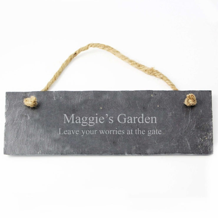 Personalised Engraved Hanging Slate Plaque-Canvases & Plaques-Give Personalised Gifts