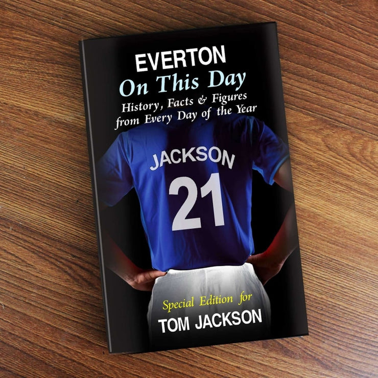 Personalised Everton on this Day Book-Books-Give Personalised Gifts