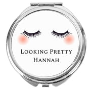 Personalised Eyelashes Compact Mirror-Compact Mirror-Give Personalised Gifts