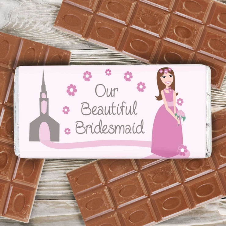 Personalised Fabulous Bridesmaid Milk Chocolate Bar-Chocolate Bar-Give Personalised Gifts