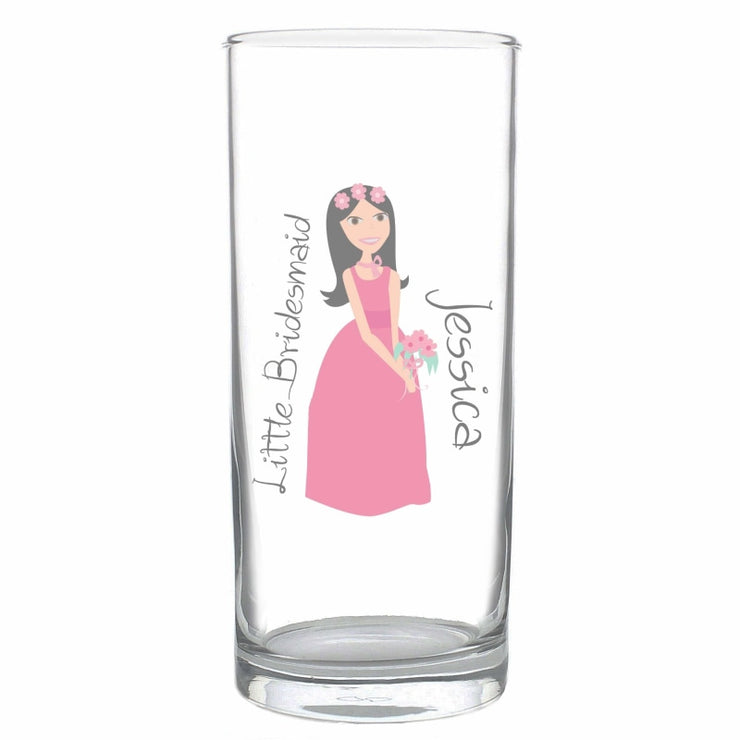 Personalised Fabulous Little Bridesmaid/Flower Girl Hi Ball Glass-Hi Ball Glass-Give Personalised Gifts