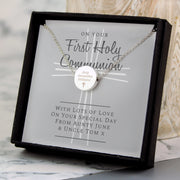 Personalised First Holy Communion Necklace & Box-Jewellery-Give Personalised Gifts