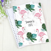 Personalised Flamingo A5 Notebook-Notebook-Give Personalised Gifts