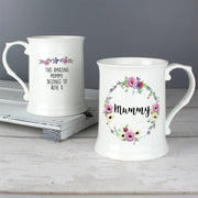 Personalised Floral 15oz Mug-Mugs-Give Personalised Gifts