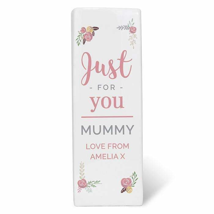 Personalised Floral Bouquet Square Vase-Home Decor-Give Personalised Gifts
