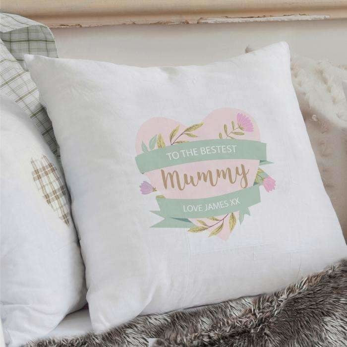 Personalised Floral Mother's Day Cushion Cover-Cushion Cover-Give Personalised Gifts