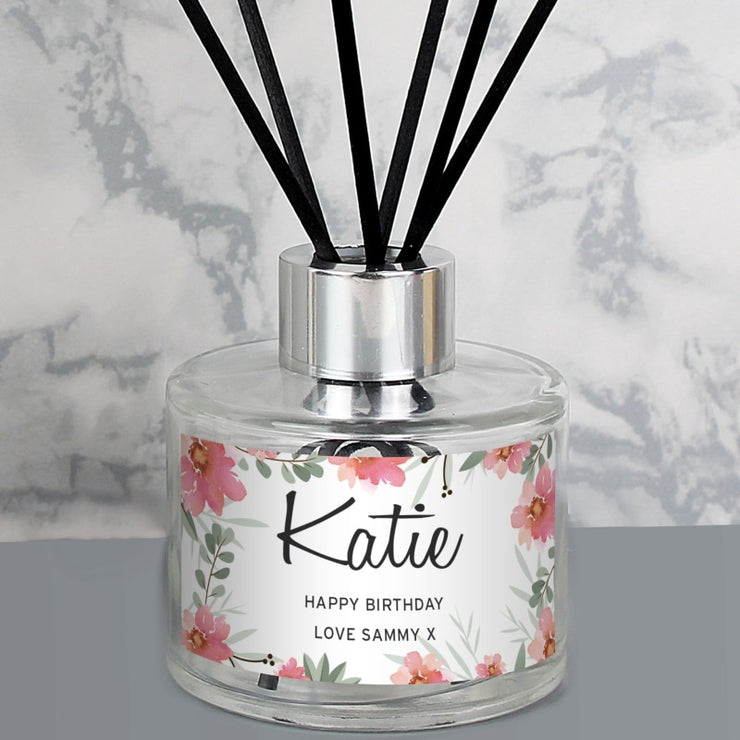 Personalised Floral Sentimental Reed Diffuser-Diffuser-Give Personalised Gifts