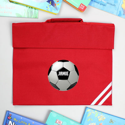 Personalised Football Red Book Bag