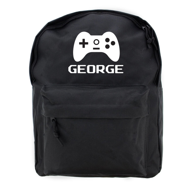 Personalised Gaming Black Backpack : 20% Off-Kids Backpack-Give Personalised Gifts