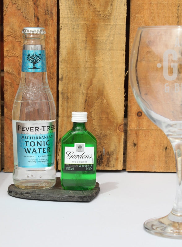 Personalised Gin and Bear It Balloon Gift Set-Miniature Set-Give Personalised Gifts