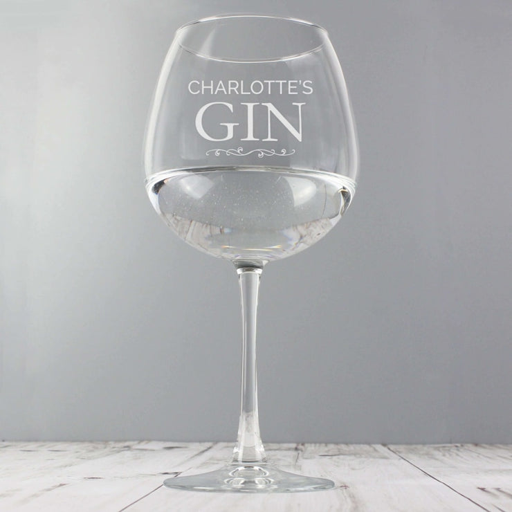 Personalised Gin Balloon Glass-Glassware-Give Personalised Gifts