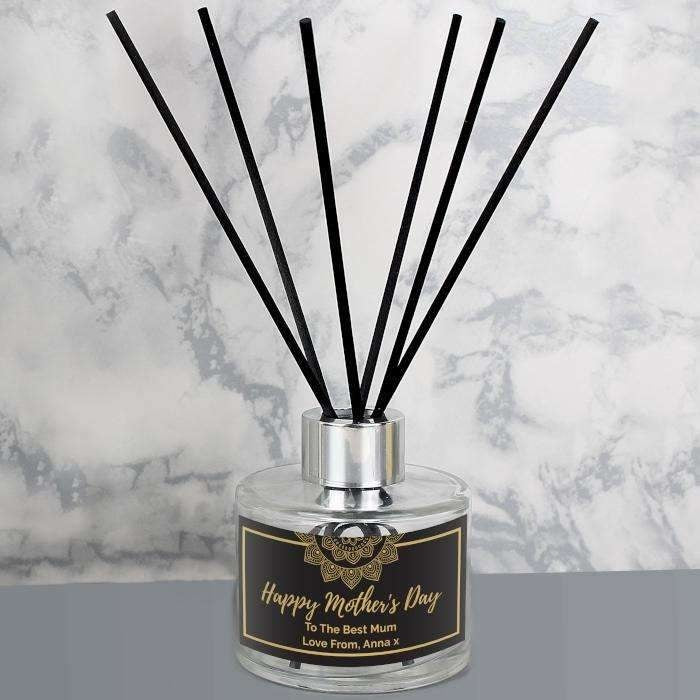 Personalised Gold Mandala Reed Diffuser-Diffuser-Give Personalised Gifts