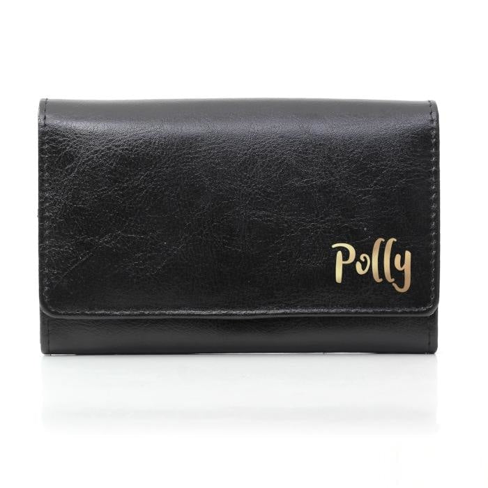 Personalised Gold Name Black Purse-Purse-Give Personalised Gifts