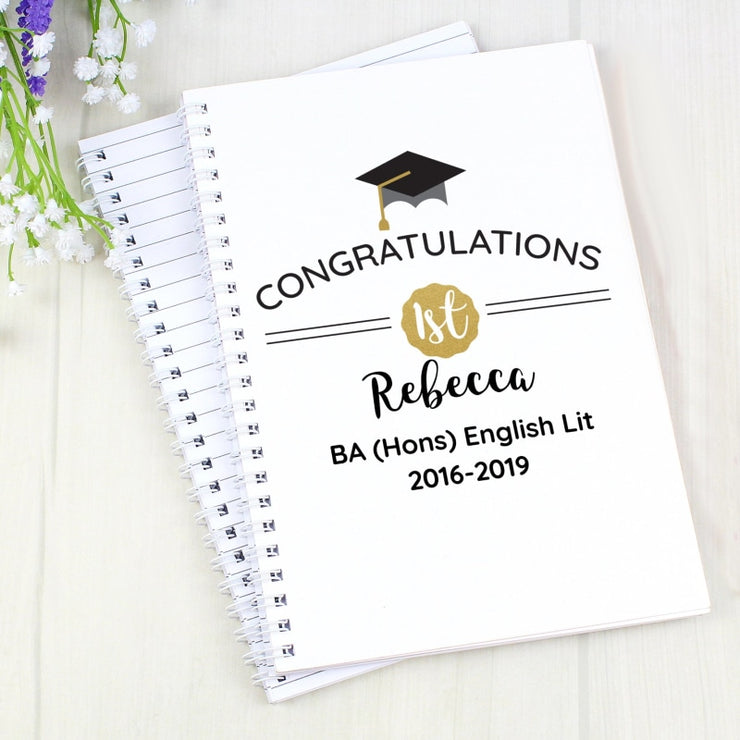 Personalised Graduation Hardback A5 Notebook-Notebook-Give Personalised Gifts
