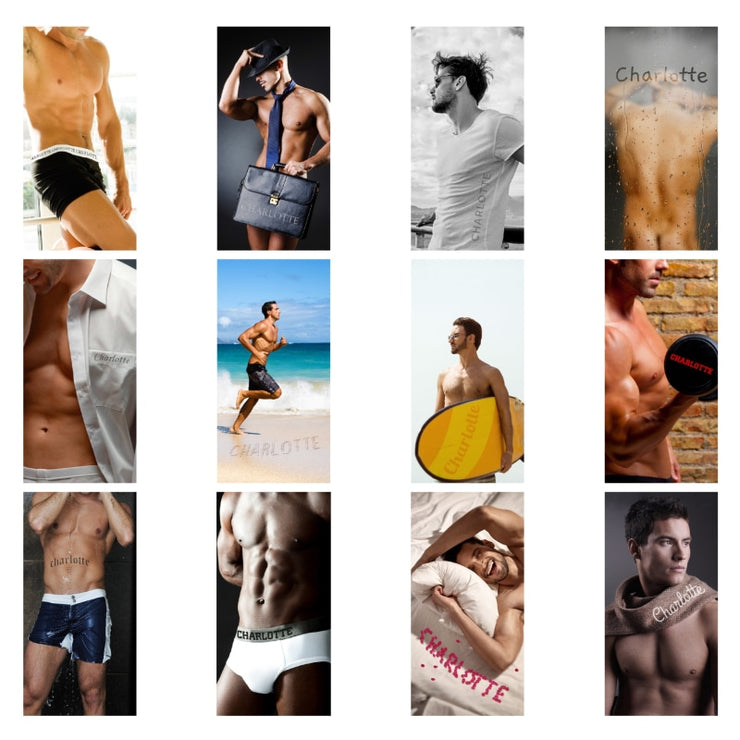 Personalised Hot Hunks Desk Calendar-Calendar-Give Personalised Gifts