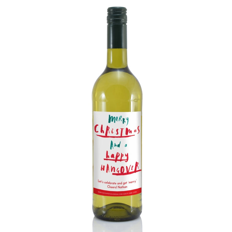 Personalised HotchPotch Happy Hangover White Wine-Wine-Give Personalised Gifts