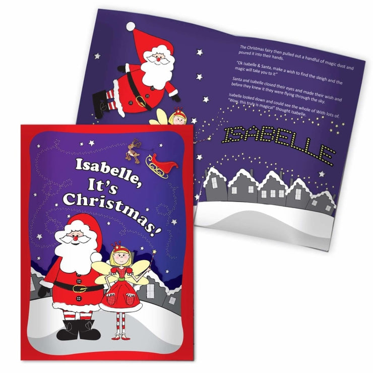 Personalised 'It's Christmas' Fairy Story Book-Story Book-Give Personalised Gifts