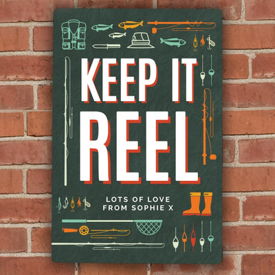 Personalised Keep It Reel Metal Sign