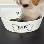 Personalised Large Bone China Pet Bowl-Pet Bowl-Give Personalised Gifts