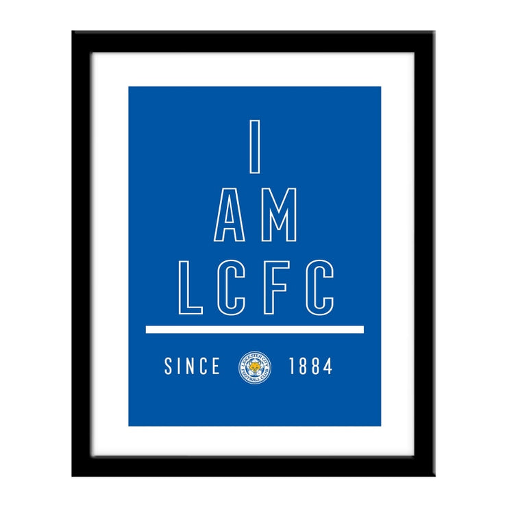 Personalised Leicester City FC I Am Print